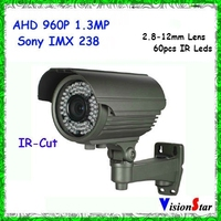 High Resolution 1200TVL Manual Zoom 2.8-12mm AHD Camera Support WDR Analog Security Camera 960P 1.3MP Video Camera