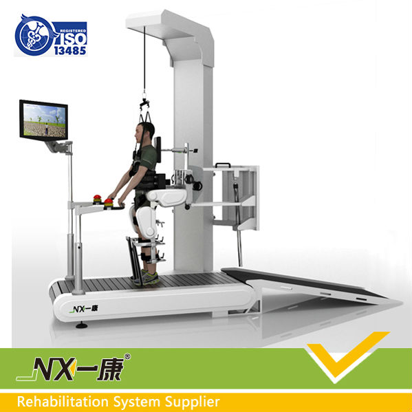 Intelligent feedback medical electric stimulator gait robot for lower limb training and evaluation with gait analysis