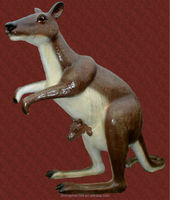 Factory supplies FRP animals simulation kangaroo sculptures stainless steel/copper sculpture
