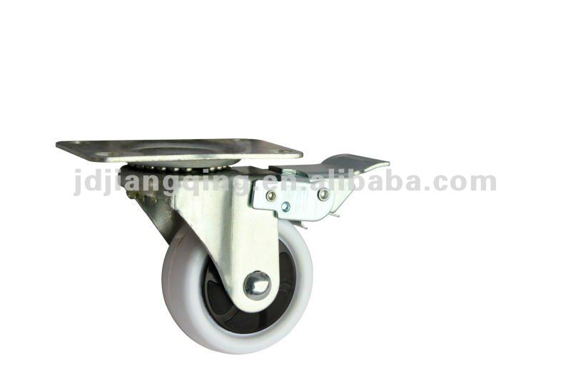 65mm top plate white caster wheel supplier