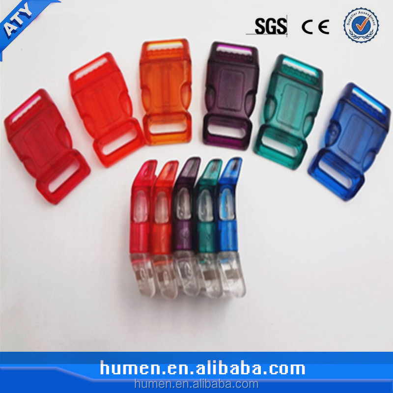 Colours transparent plastic slide buckle