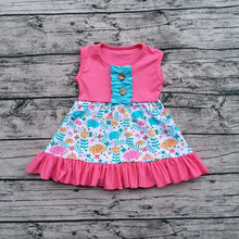 Wholesale unique design Kid Baby Dress Sleeveless Girl Casual Frocks Cotton Frock Design For Baby Girl dress