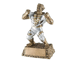 Resin Crazy Muscle Rugby Player statue trophy for home decoration