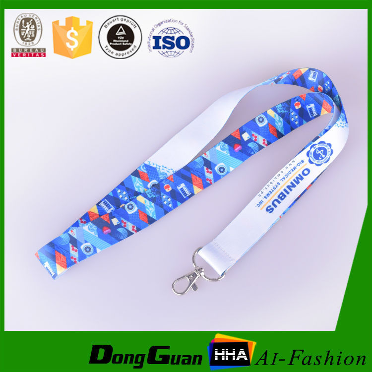 Colorful funky polyester lanyards with cheap price good quality for sale