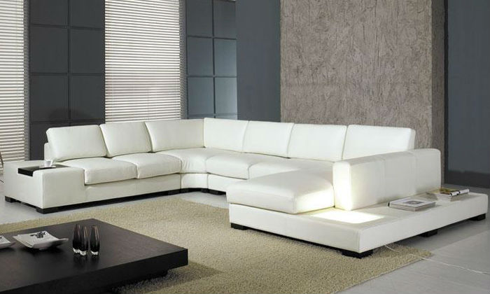 2013 Euro Design Modern Sofa Large Size L Shaped Corner Leather Sofa Classic White Leather sofa inflatable couch 9110-23