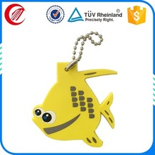 personalized cheap 3d animal shaped rubber keychain