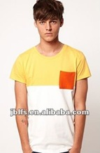 fashion men beautiful t shirt with a front pocket