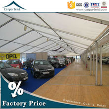 10x20m Large Waterproof Permanent Motor Car Parking Canopy Tent With Removable Walls With Durable Aluminium Structure Pvc Roof