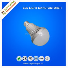 SYW 2014 High Quality Energy Saving E27 B22 AC85-265V led light bulb parts