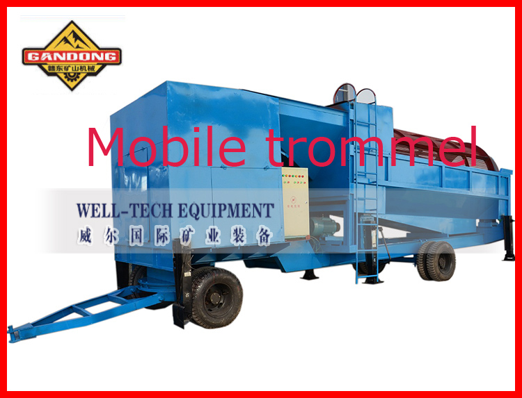 mobile gold mining equipment trommel