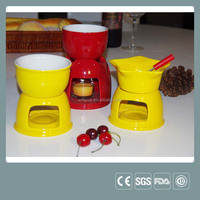 Ceramic Mini Chocolate Fondue Pot Cheese