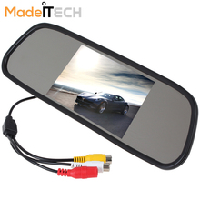 480 x 272 4.3 Inch Color TFT LCD Screen Wide View Angle Car Rear View Mirror Monitor