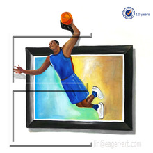 High Quality Handmade Modern Art Jordan Figure 3D Oil painting on Canvas For Sale