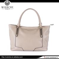 Wishche W030 OEM Design Women Satchel Handbag Lady Genuine Leather Tote Bag on Sale