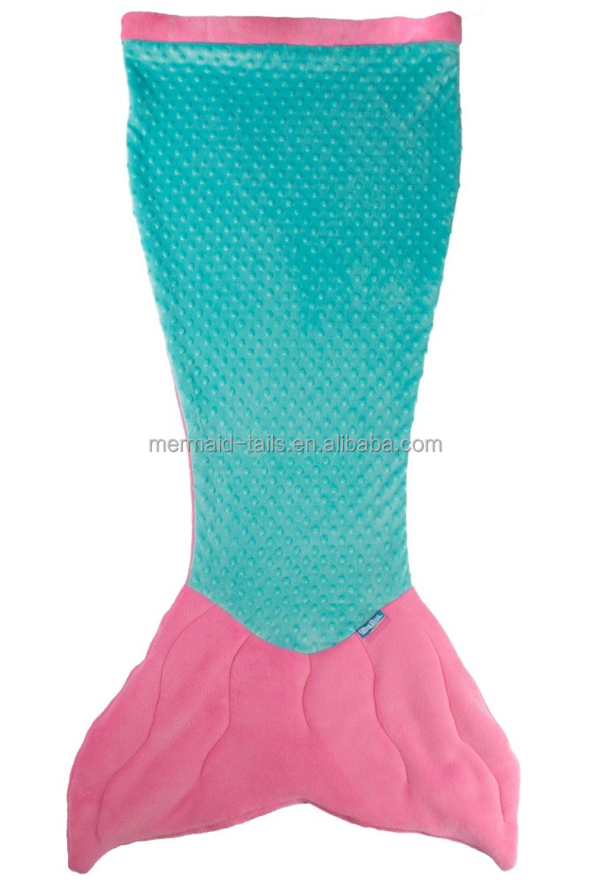 Softtextile 100%Polyester Baby Knitted Fleece Mermaid Tail Blanket