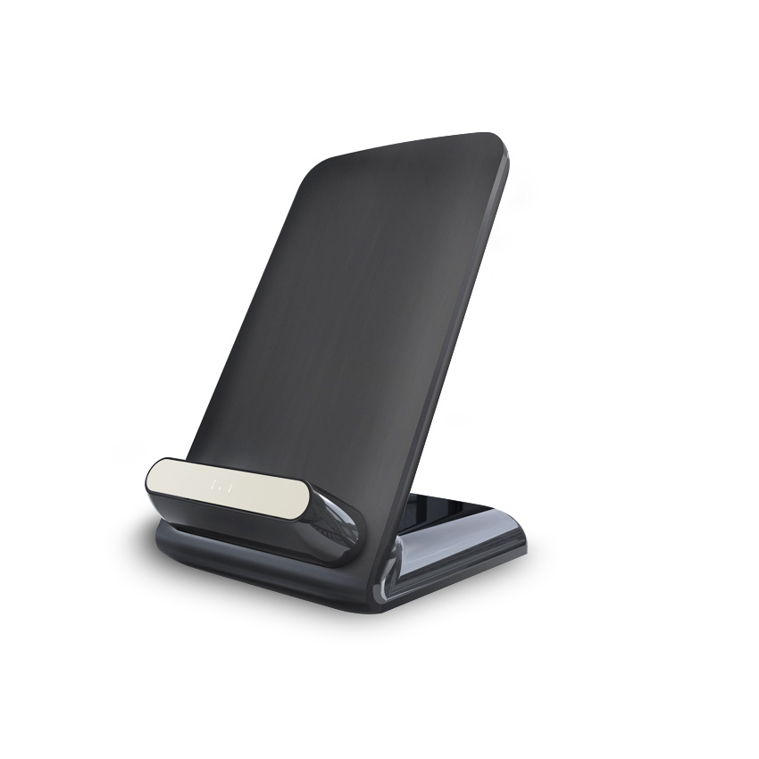 Powerqi Qi standard 3 coils wireless charger stand for Samsung galaxy S6