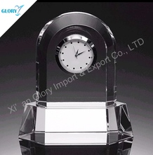 Super Quality Custom-Made Wedding Favor Heart Shape Crystal Clock