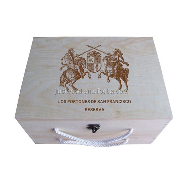 Wholesale Pine Wood Packing Box Gift Storage Box Wooden Wine Box
