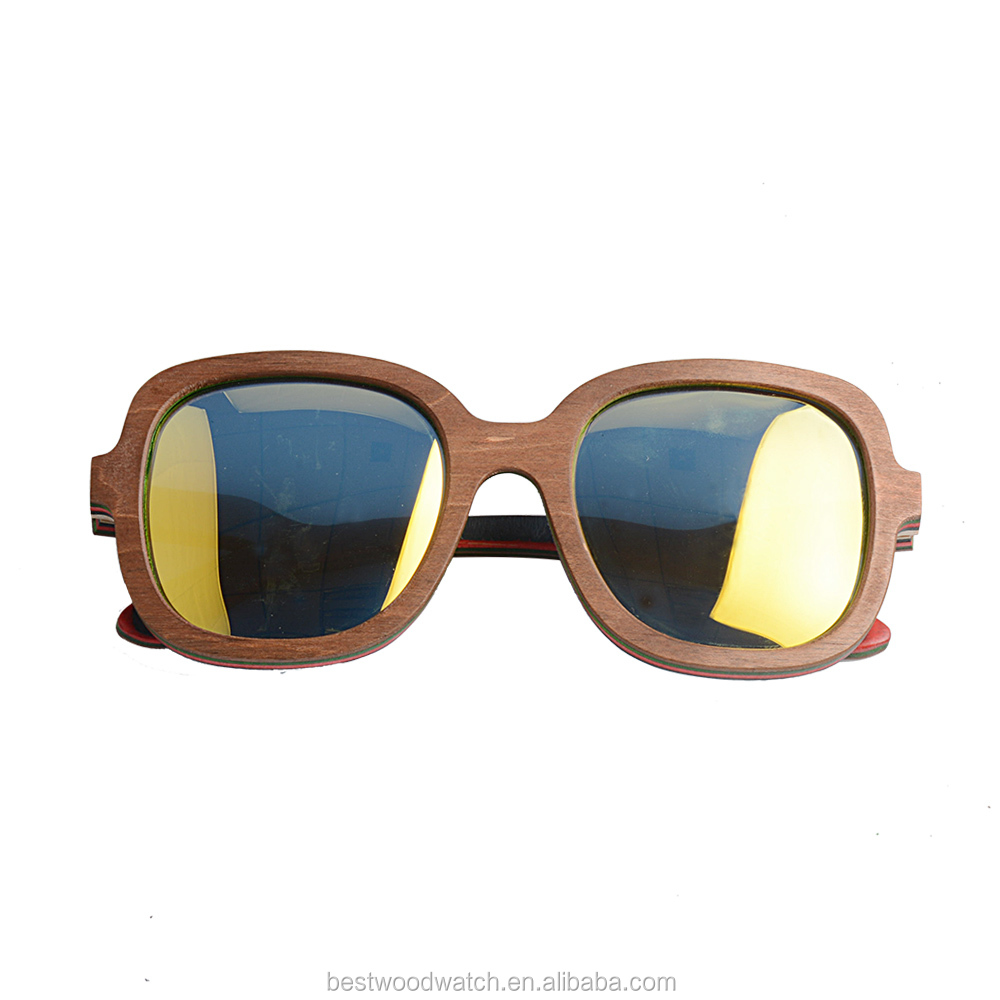 Cheap Eco-friendly Bamboo Eyewear Laser Logo 2018 New Arrival Custom Brand Wooden Sunglasses Handcrafted Hot wood sunglasses