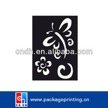 Plastic stencil painting
