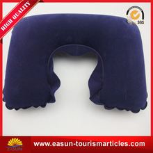 Factory direct sale travel neck pillow inflatable low price u shape headrest pillow new inflatable neckpillow