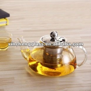 hot sale home Unique design fashionable Heat resistant Borosilicate Glass coffee pot with stainless steel strainer