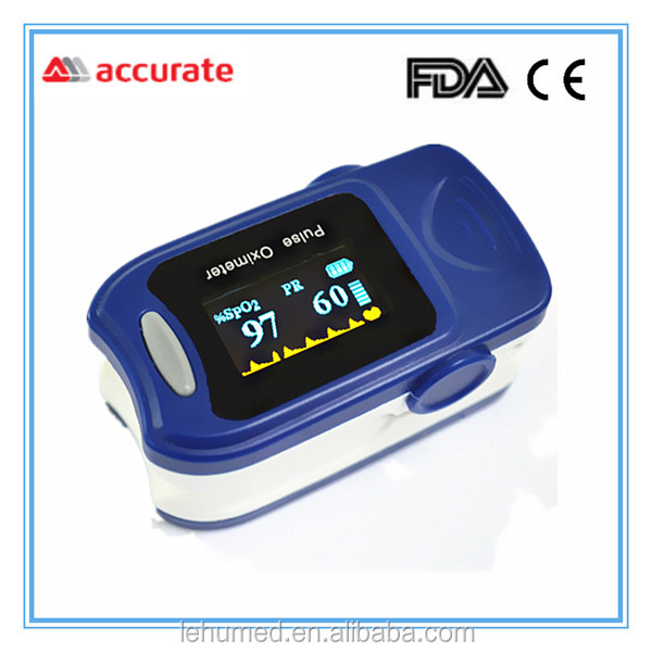 Pulse oximeter fingertip - Portable - FDA Approved - Digital Blood Oxygen and Pulse Sensor Meter with Alarm - SPO2