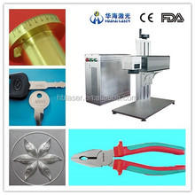 High efficiency Fiber laser marking machine for metal&non-metal(silicon wafer, ceramics, plastic,rubber, epoxy resin, ABS)