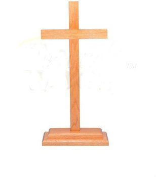 cross002,Standing Wooden Christian Cross