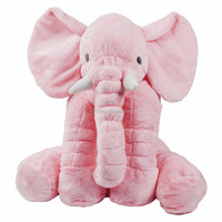 Stuffed Elephant Plush Pillow Cushion Toy Pink/comfortable pink animal pillow/soft and cheap price toy