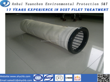 Non-woven filter bag Aramid needle punched felt with PTFE macreate