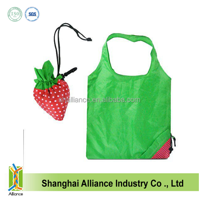 lemon/grape/carrot fruit shape promotion gift folding shopping bag