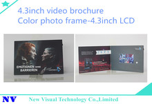 TFT LCD 4.3inch A5 americhip video in print cost