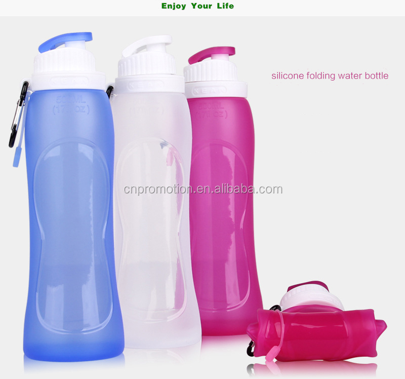 Silicone Foldable Collapsible Pocket-sized Travel Water Bottle