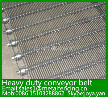 Pipeline transporting stainless steel chain link plank joint conveyor belt