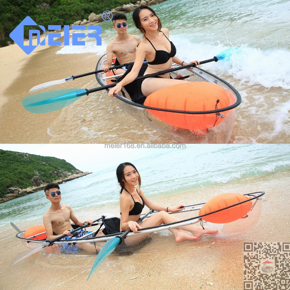 Transparent fishing kayak wholesale plastic kayak for two person