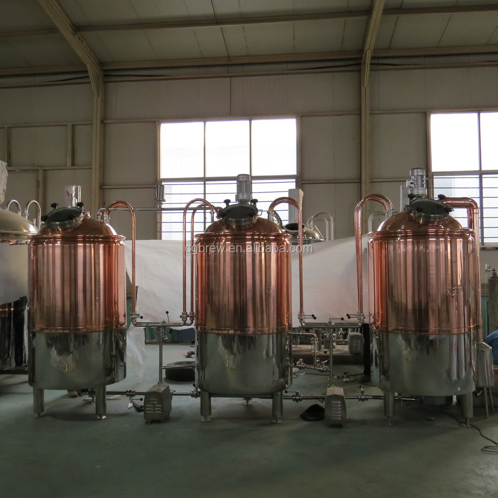 300L mini electrical copper equipment beer brewing system