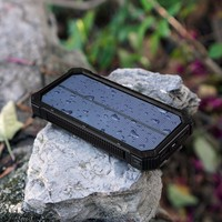 15000mAh Solar Battery Charger Power Bank Dual USB Portable Solar Charger for Samsung Galaxy, Camera, GPS & More