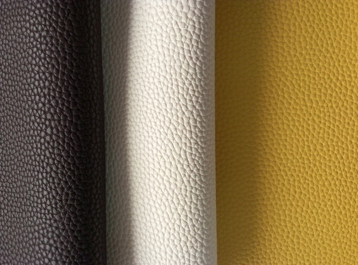 Low price Leechi design pvc artificial leather for Making Shoes