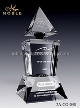 New Design Unique Crystal Coporate Gift Engraving Crystal Trophy Award.