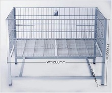 Metal wire basket dump bin supermarket promotion rolling display carts