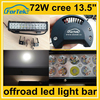 OEM laser logo offroad tuning parts 72w cree light bar led 13.5 inch