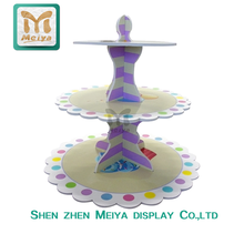 Creative Design Tree Shape Cardboard Cupcake Display Stands for Wedding