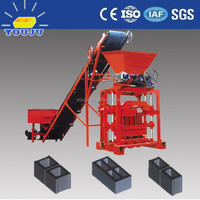 TOP quality low cost QTJ4-35 small solid concrete block brick making machine