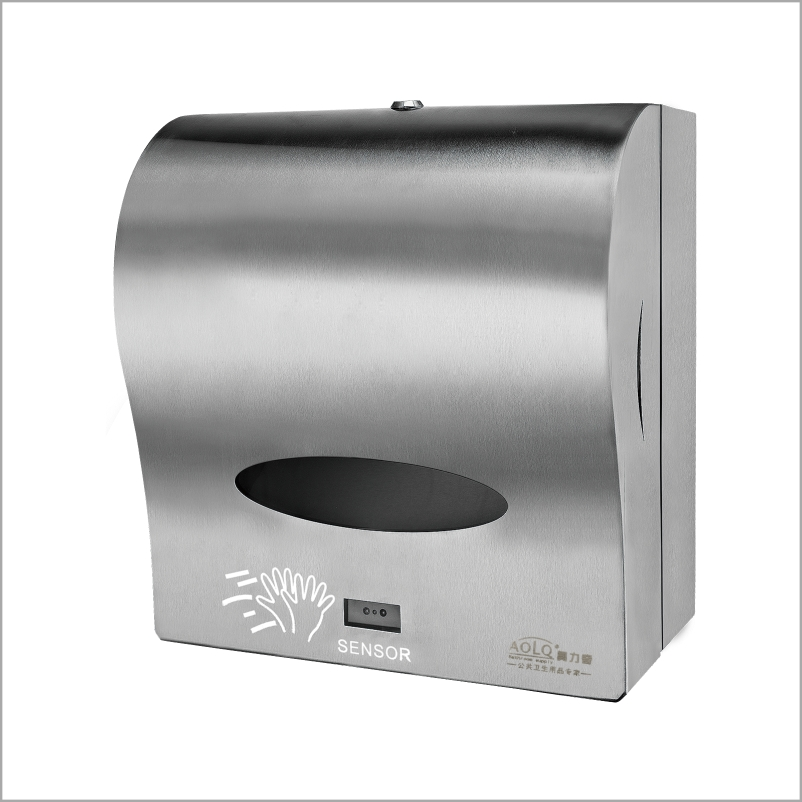 Stainless steel automatic sensor toilet paper towel dispenser