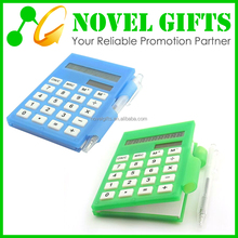 Custom Mini Memo Pad Calculator with Notepad and Pen Set
