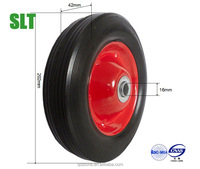 8 inch rubber wheel 200mm hard rubber heavy duty wheel solid rubber