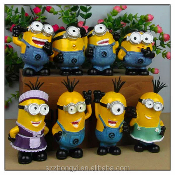 hot resin 2014 new product china wholesale yellow cartoon characters