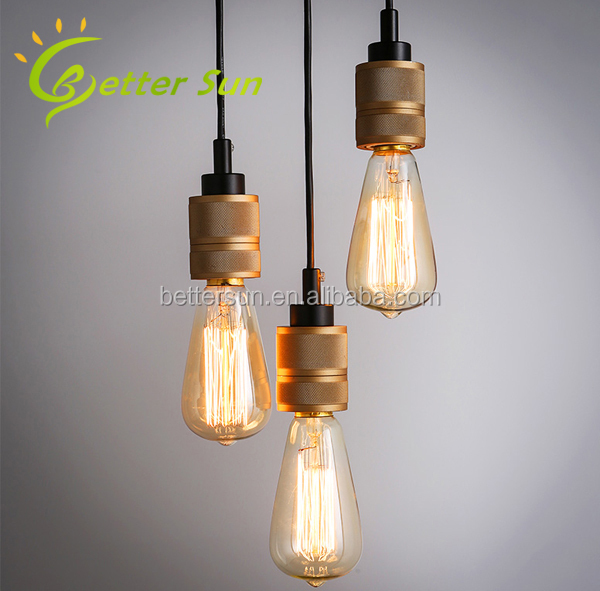 HOT SALE <strong>Industrial</strong> Vintage Retro E27 Edison Bulb Pendant Light with 6 Lamps