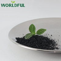 1-2mm flake state high soluble agro chemicals humic acid and fulvic acid compost shiny flakes fertilizer